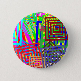 Colorful Abstract Pattern 6 Cm Round Badge