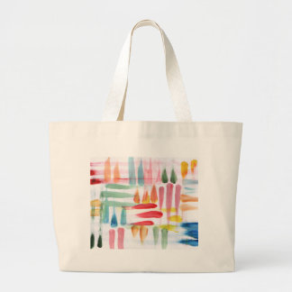 Colorful Abstract poster paint with finger tips Jumbo Tote Bag