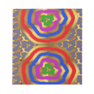 Colorful Abstract Wave Pattern artistic gifts Notepads