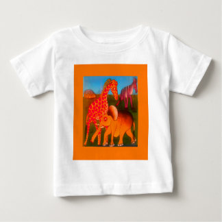 Colorful  African wild animal safari colors Baby T-Shirt