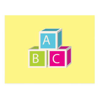 Colorful Alphabet blocks Postcard