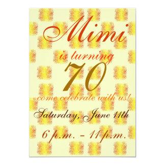 Colorful and festive 70th birthday Invitation