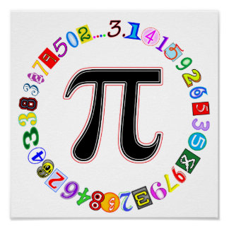 Colorful and Fun Circle of Pi Poster