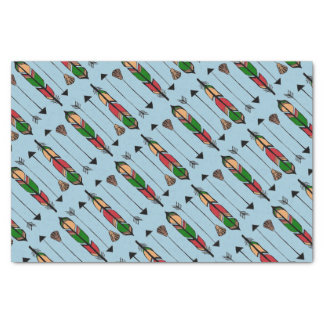 Colorful Arrows and Feathers Tissue Paper