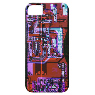 colorful artistic circuit board collage iPhone 5 cases
