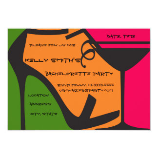 Colorful bachelorette party design card