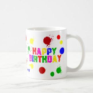 colorful birthday mug