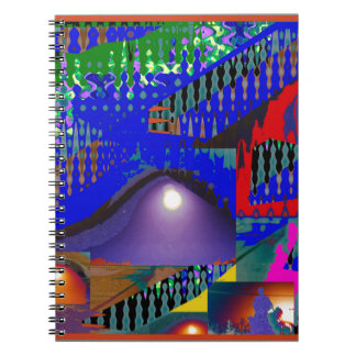 Colorful Blue Purple Moon shine night gifts Note Books