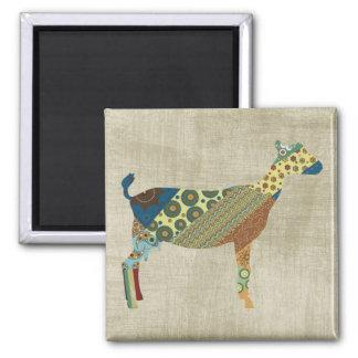 Colorful BoHo Quilt Goat Design Magnet