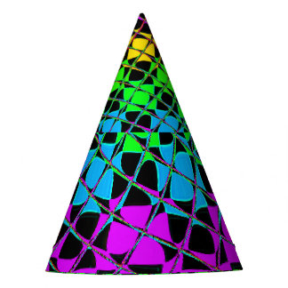 Colorful bright lovely fun bachelor party birthday party hat