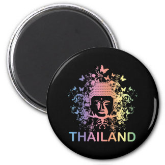 Colorful Buddha thailand 6 Cm Round Magnet