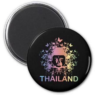 Colorful Buddha thailand 6 Cm Round Magnet