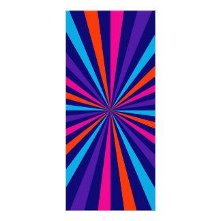 Colorful Burst Spinning Wheel Design Personalised Rack Card