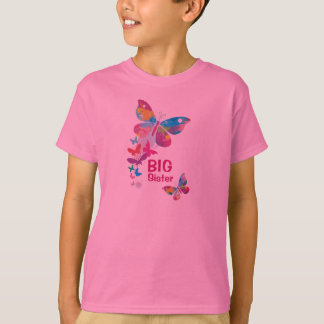 Colorful Butterflies BIG Sister Shirt