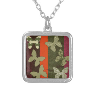 Colorful Butterflies  Design Silver Plated Necklace
