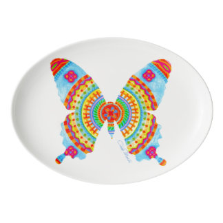 COLORFUL BUTTERFLY SERVING PLATTER