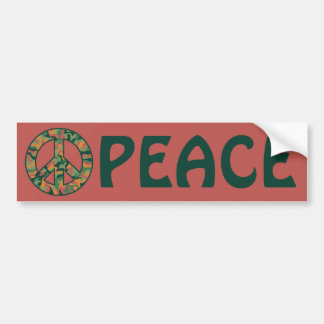 Colorful Camo Peace Bumper Sticker