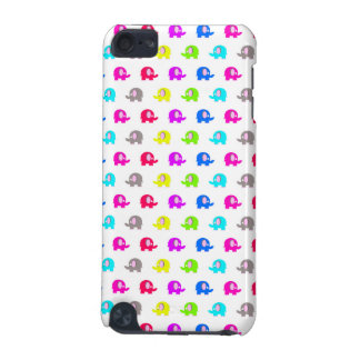 colorful cartoon elephants over white iPod touch (5th generation) case