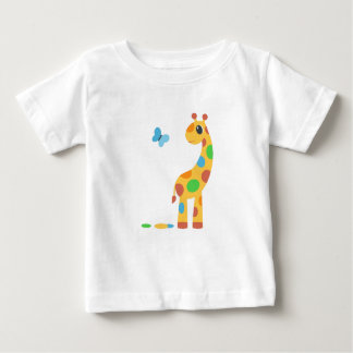 Colorful Cartoon Giraffe Baby T-Shirt