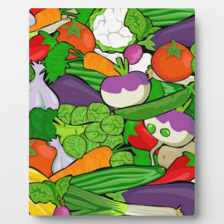Colorful Cartoon Vegetables Plaque