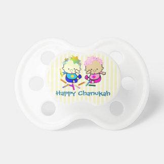 Colorful Chanukah Candles Pacifier