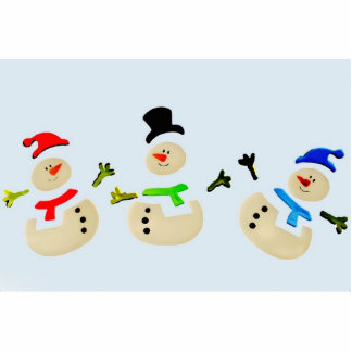 Colorful Christmas Snowman Parade Photo Cutout