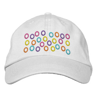 Colorful Circles Embroidered on Hat Embroidered Cap