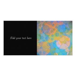 Colorful Circles Fun Abstract Art Photo Card Template