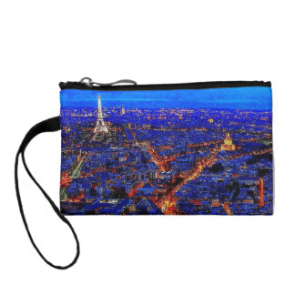 Colorful City Life Key Coin Clutch Coin Wallets
