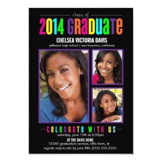 Colorful Class of 2014 Graduate Photo Invite