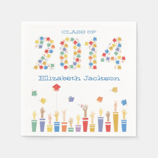 Colorful Class of 2014 Graduation Party Napkin Disposable Napkins