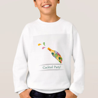 Colorful cocktail party invitation card sweatshirt