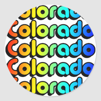 colorful colorado. classic round sticker