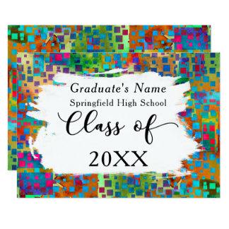 Colorful Confetti, Brushstrokes Grad Announcement