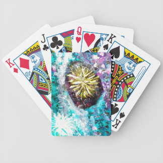 Colorful Coral Reef Sea Urchin Deck Of Cards