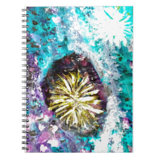 Colorful Coral Reef Sea Urchin Notebook