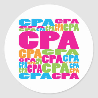 Colorful CPA Classic Round Sticker