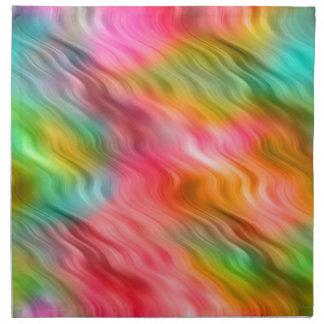 Colorful Crane Flower Wavy Texture Napkin