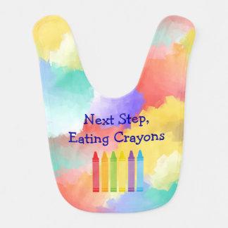 Colorful Crayon Baby Bib