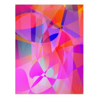 Colorful Curtain Art Postcard