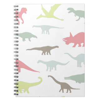 Colorful cute dinosauruses notebooks