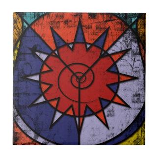 Colorful Digital Graffiti - Urban Tribal Style Small Square Tile