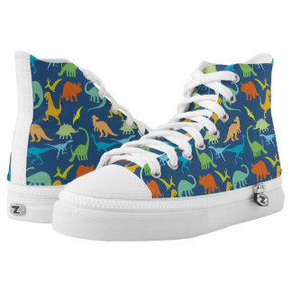 Colorful Dinosaur Pattern Printed Shoes