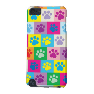 Colorful Dog Paws Patchwork Pattern iPod Touch 5G Cover