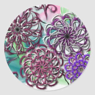 Colorful Doodling Round Sticker