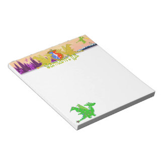 Colorful Dragon World Cute Cartoon Dragons Notepad