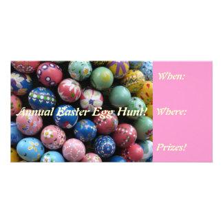 Colorful Easter Egg Hunt Invites Photo Card