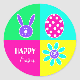 Colorful Easter Round Sticker