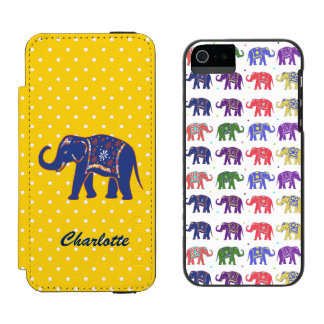 Colorful Elephants iPhone 5S Wallet Case Incipio Watson™ iPhone 5 Wallet Case