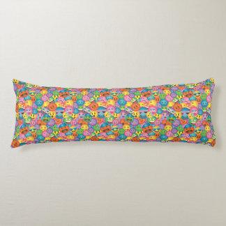 Colorful Emoji Print Pillow